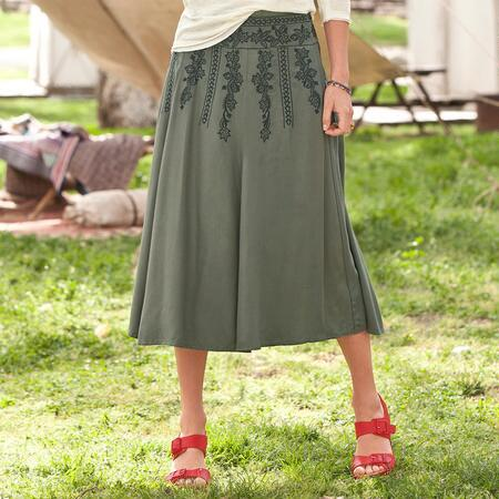TEA DANCE EMBROIDERED SKIRT