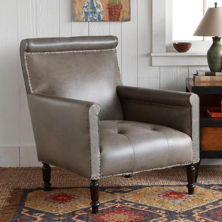 TELEGRAPH HILL LEATHER CLUB CHAIR