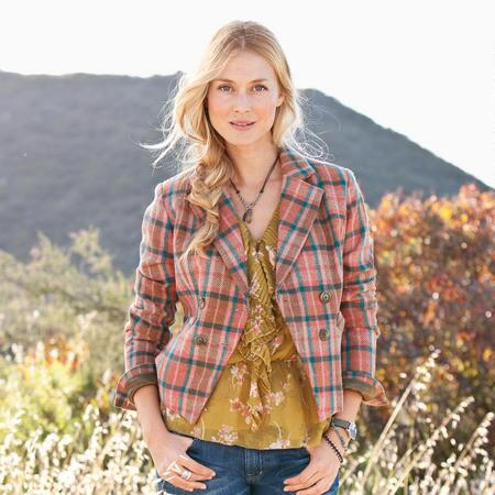 PLAID SPENCER JACKET