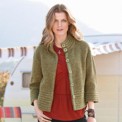 TUCKSTITCH CARDIGAN