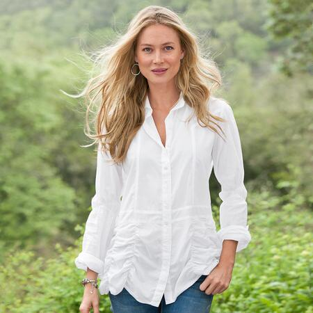 UNCOMMONLY COOL WHITE SHIRT - PETITES