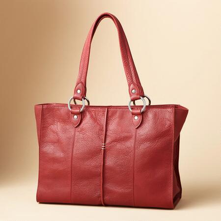 STITCHED LEATHER TOTE