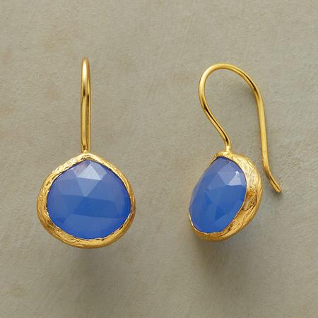 TRUE BLUE CHALCEDONY EARRINGS