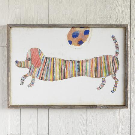 HAUTE DOG FRAMED PRINT