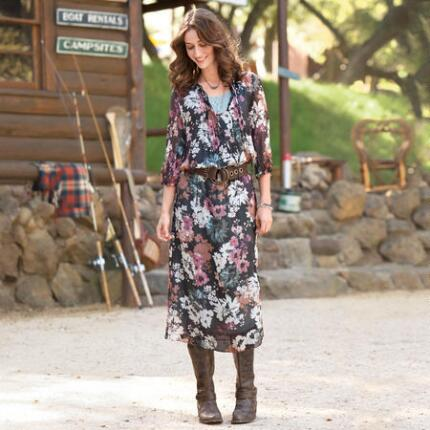 AUTUMN GLADE DRESS - PETITES