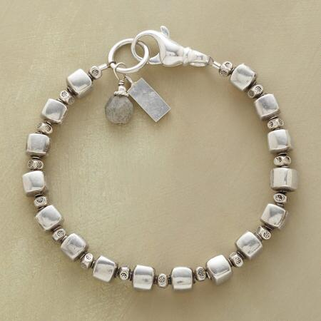 Simple yet sublime, this sterling silver bead bracelet is perfect for everyday wear.