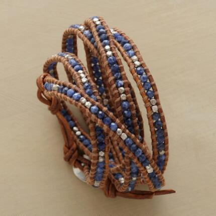 This Chan Luu sodalite wrap bracelet has a casual elegance that dresses up or down with ease.
