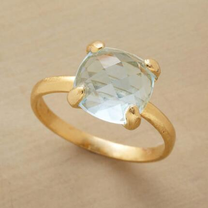 Dive into the translucent charm of this blue waters topaz ring.