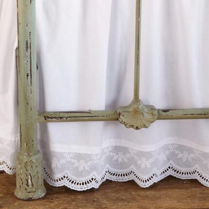 DOWNTON EMBROIDERED BEDSKIRT
