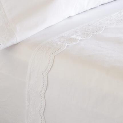 DOWNTON EMBROIDERED SHEET SET