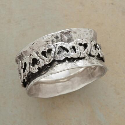 TOPSY-TURVY HEARTS RING