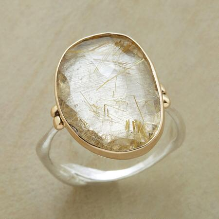 Each totally unique, this ancient radiance quartz ring will win you with its idiosyncratic charm.