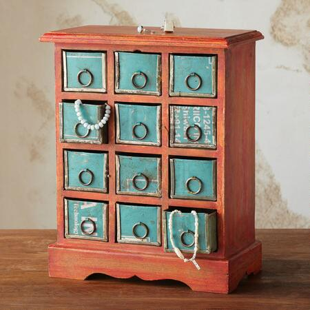 DOZEN DRAWER JEWELRY BUREAU
