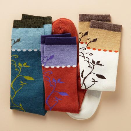 VINEYARD SOCKS, SET OF 3