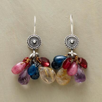 RAINBOW CLUSTER EARRINGS