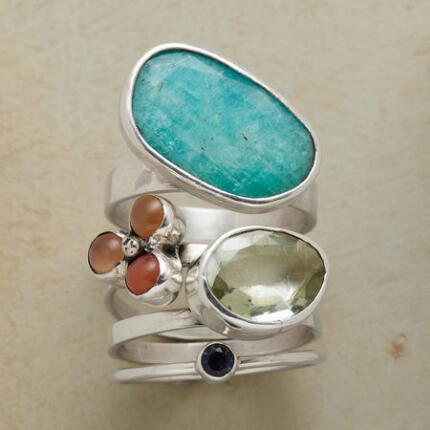 ECLECTIC QUARTET RINGS S/4