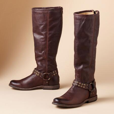 PHILLIP STUDDED HARNESS BOOTS