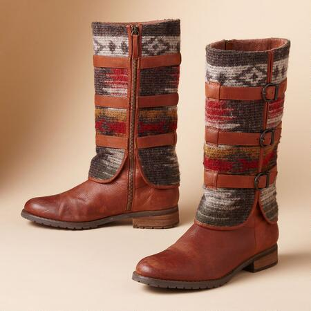 SADDLE BLANKET BOOTS