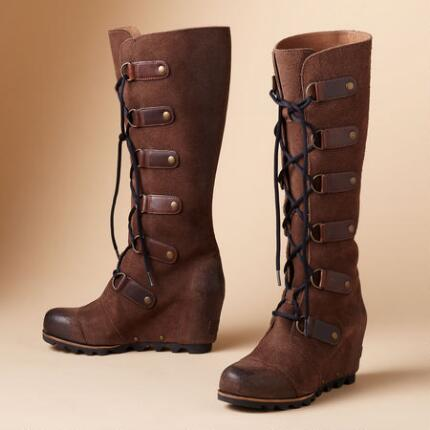 JOAN OF ARCTIC WEDGE BOOTS