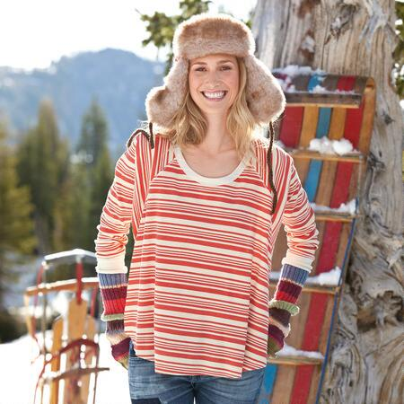STRIPED SLOUCH TEE