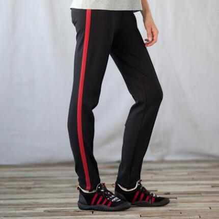 RED STRIPE STIRRUP PANTS