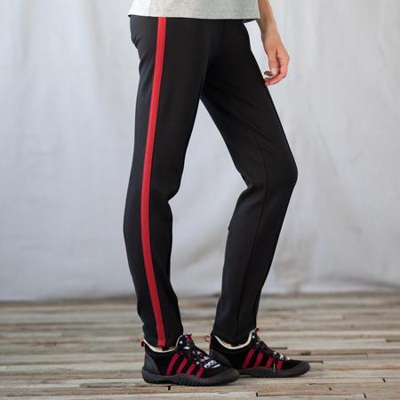 RED STRIPE STIRRUP PANTS