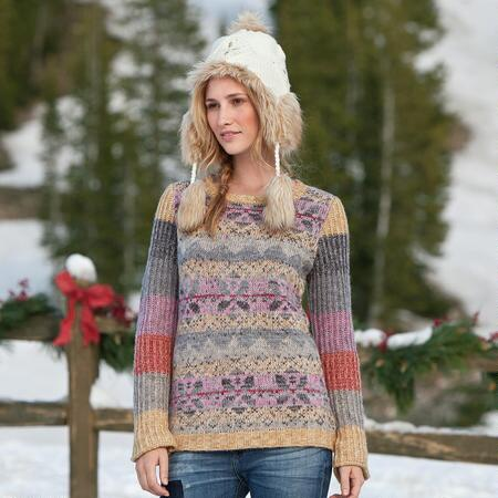 ART IN MOTION FAIR ISLE PULLOVER
