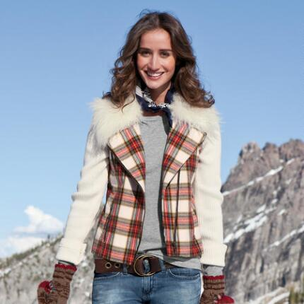 FINE MIX PLAID JACKET