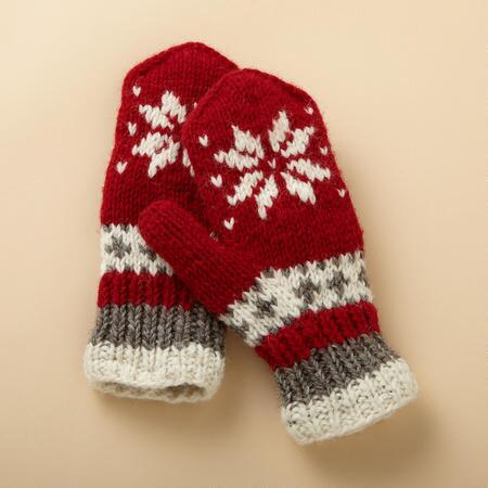 Knitting Pattern For Snowflake Mittens : SNOWFLAKE MITTENS - Gloves - Accessories