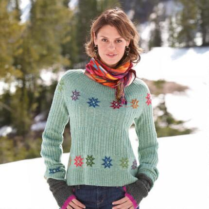 SOPHISTICATED SNOWFLAKE SWEATER - PETITES