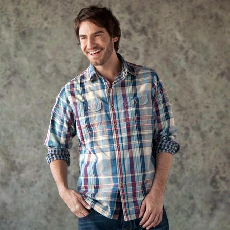 NEW ENGLAND PLAID REVERSIBLE SHIRT