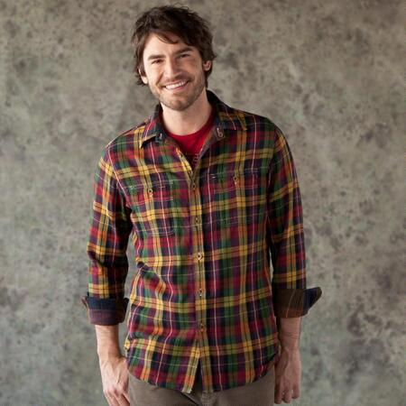 RED ROCKS PLAID REVERSIBLE SHIRT
