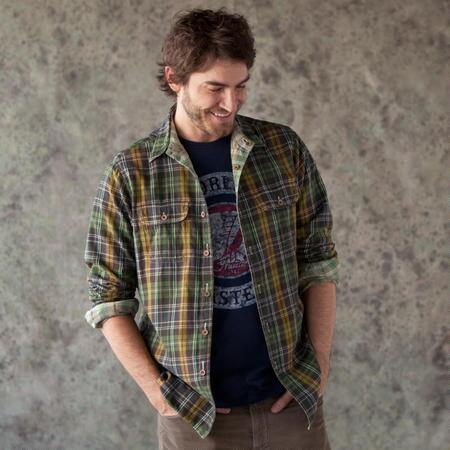 HUNTSMAN PLAID REVERSIBLE SHIRT