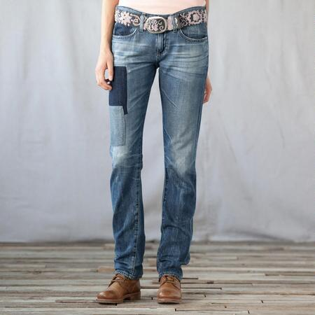 A G PIPER PATCHWORK JEANS