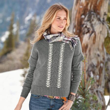 ANDOVER LAYERED LOOK SWEATER