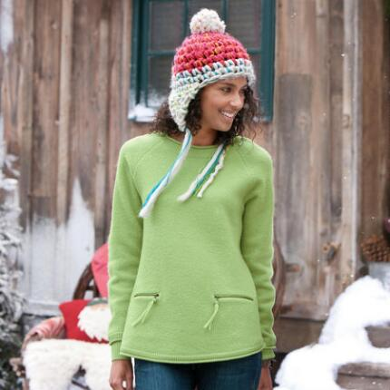 WARMHEART BOILED WOOL PULLOVER