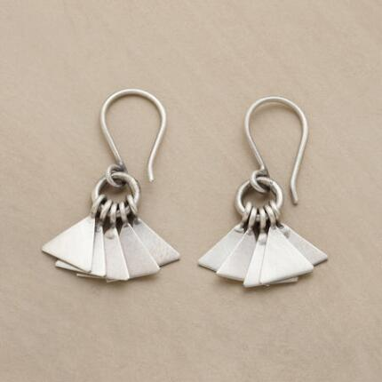 STERLING FANFARE EARRINGS