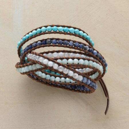 BLUE UPON BLUE 5 WRAP BRACELET