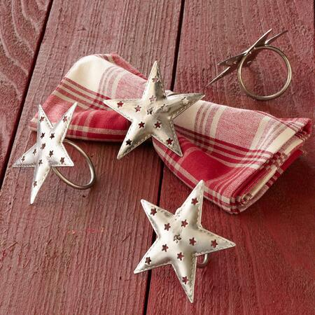 HOLIDAY NAPKIN RINGS S/4