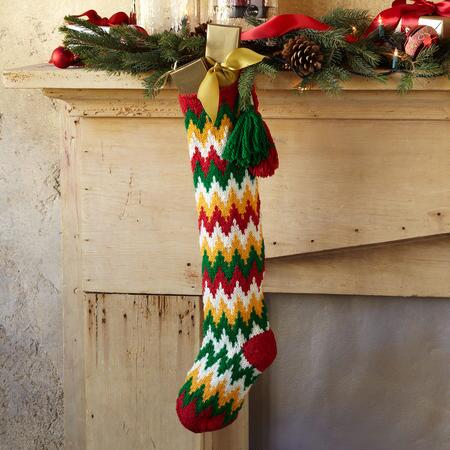 TASSELED FLAMESTITCH STOCKING