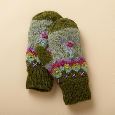 MORNING GLORY MITTENS