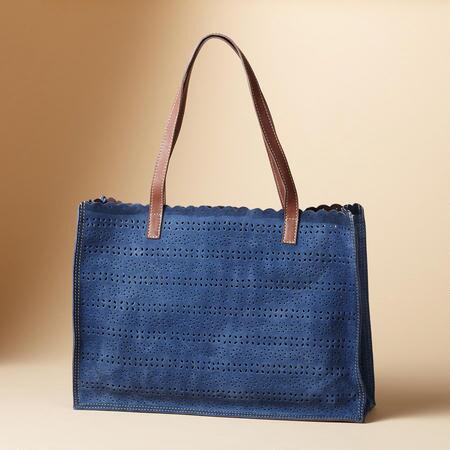 PUNCHED PANACHE TOTE