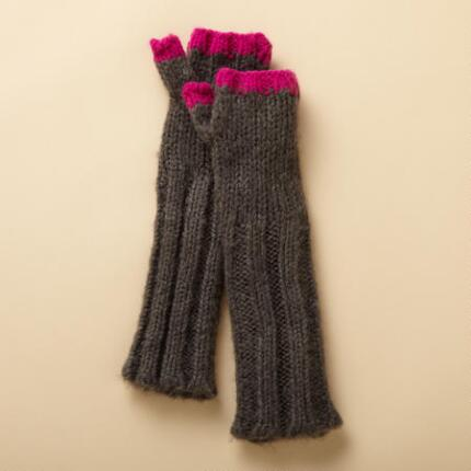 NEON-TIPPED FINGERLESS GLOVES