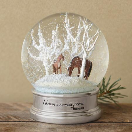 HORSE WHISPERS SNOWGLOBE