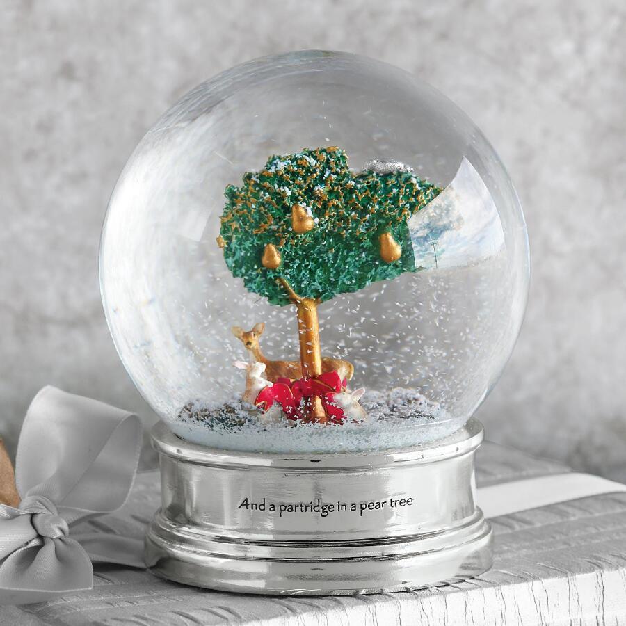PARTRIDGE IN A PEAR TREE SNOWGLOBE