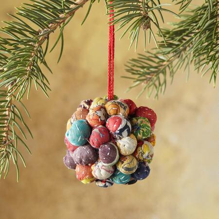 SARI BALL ORNAMENTS: EACH