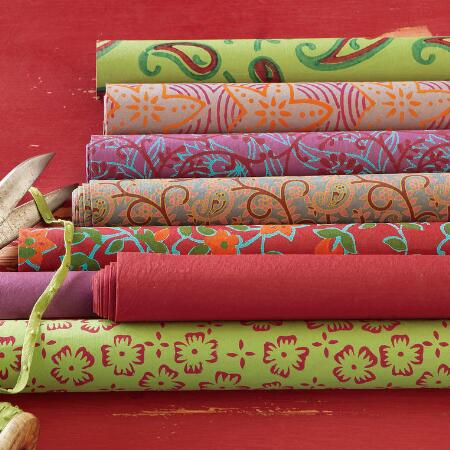 HANDMADE HOLIDAY GIFT WRAP, SET OF 8