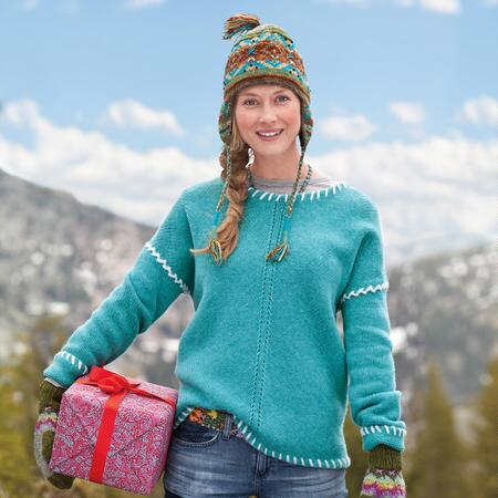 KNIT PRINCESS WHIPSTITCH PULLOVER