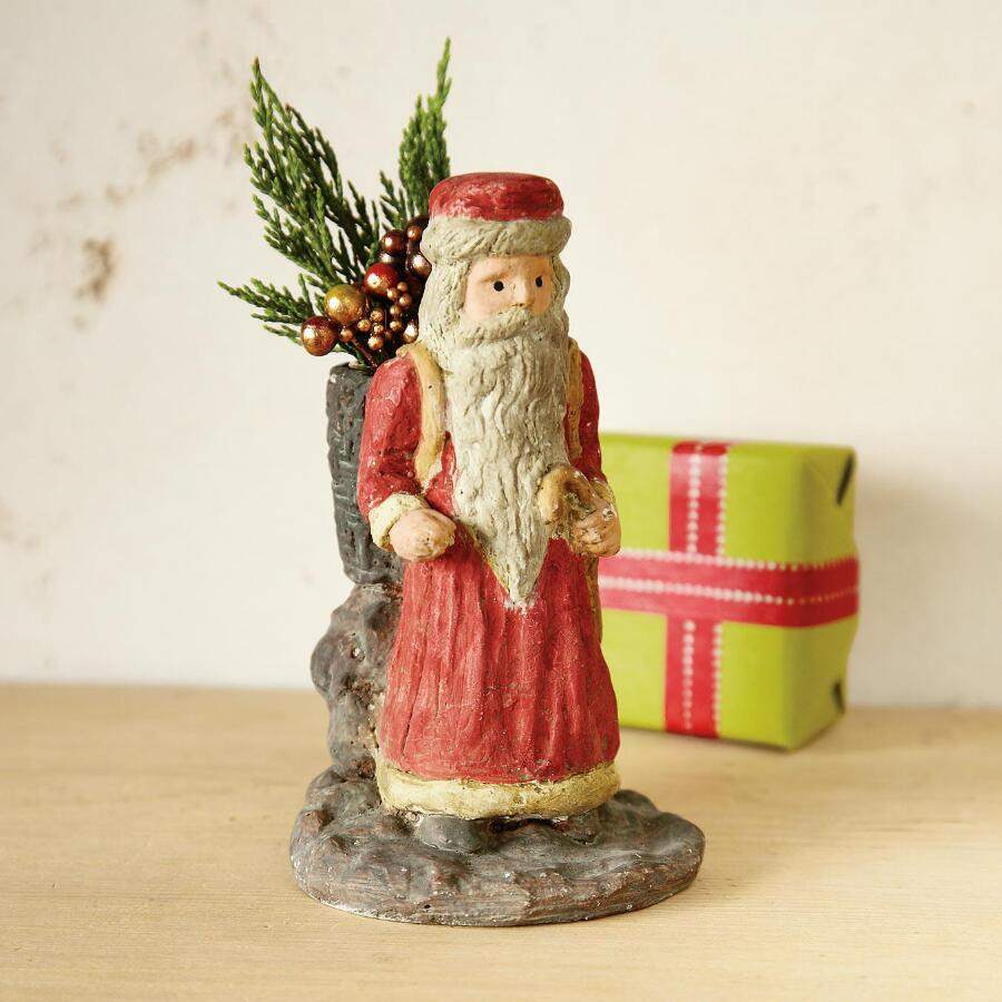BACKPACK SANTA BUD VASE
