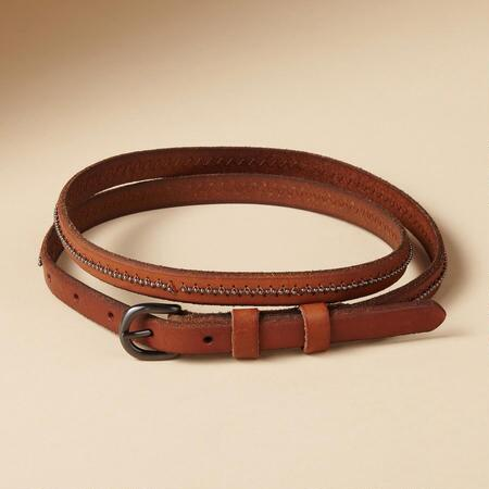 SLICE OF BRIGHT SKINNY BELT